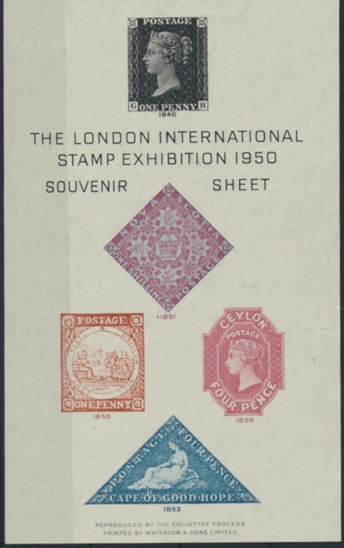 Großbritannien The London International Stamp Exhibition Souvenir Sheet 1950 Bug