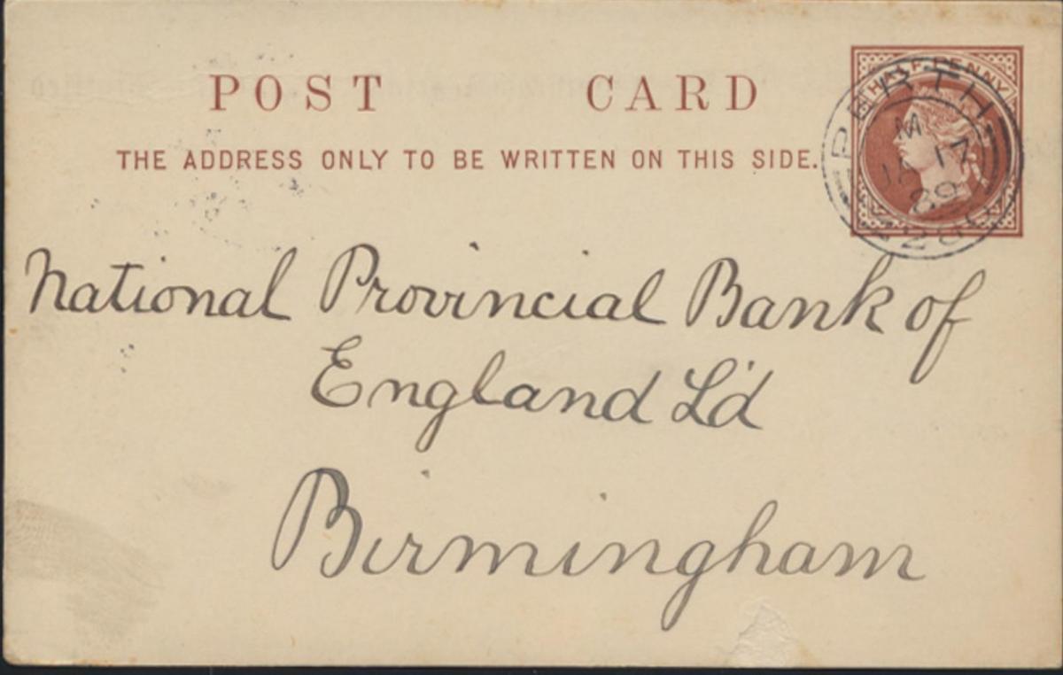 Großbritannien Ganzsache 1/2p Queen Victoria privater Zudruck  Perth Schottland