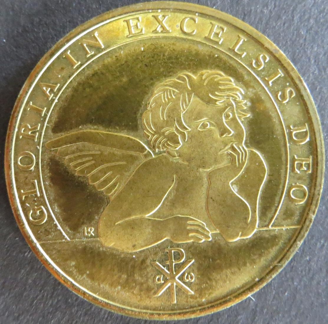 Medaille Deutschland ca. 1980 Weihnachtsmedaille Pax in terra 10g Bronze stgl