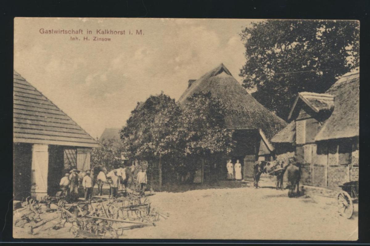 Ansichtskarte Kalkhorst Mecklenburg Gastwirtschaft H. Zinsow