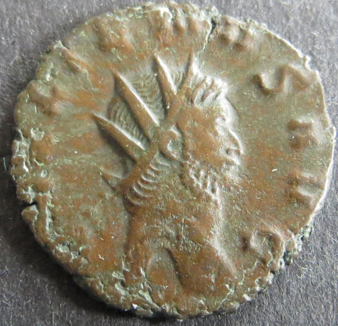 Römische Münze Galliemus 253-268 Antoninian RS Salus füttert Schlange s