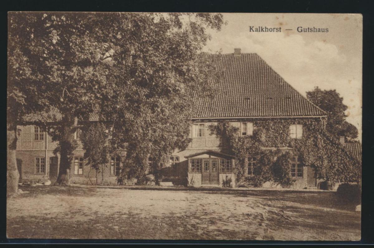 Ansichtskarte Kalkhorst Mecklenburg Gutshaus nach Hamburg 8.8.1930 0