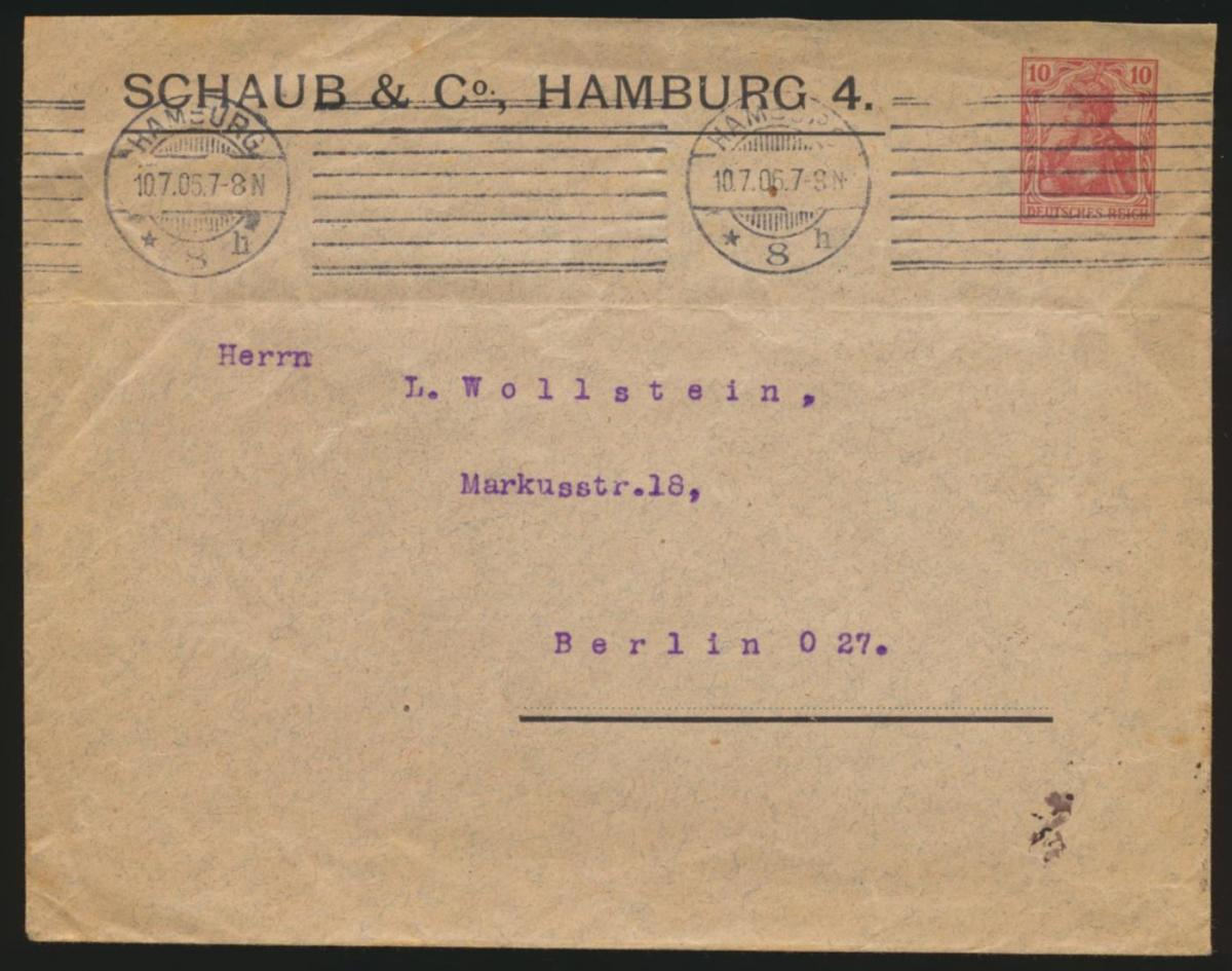 Deutsches Reich Privatganzsache Umschlag PU 27 B 43 jedoch 161:127 U=72 mm