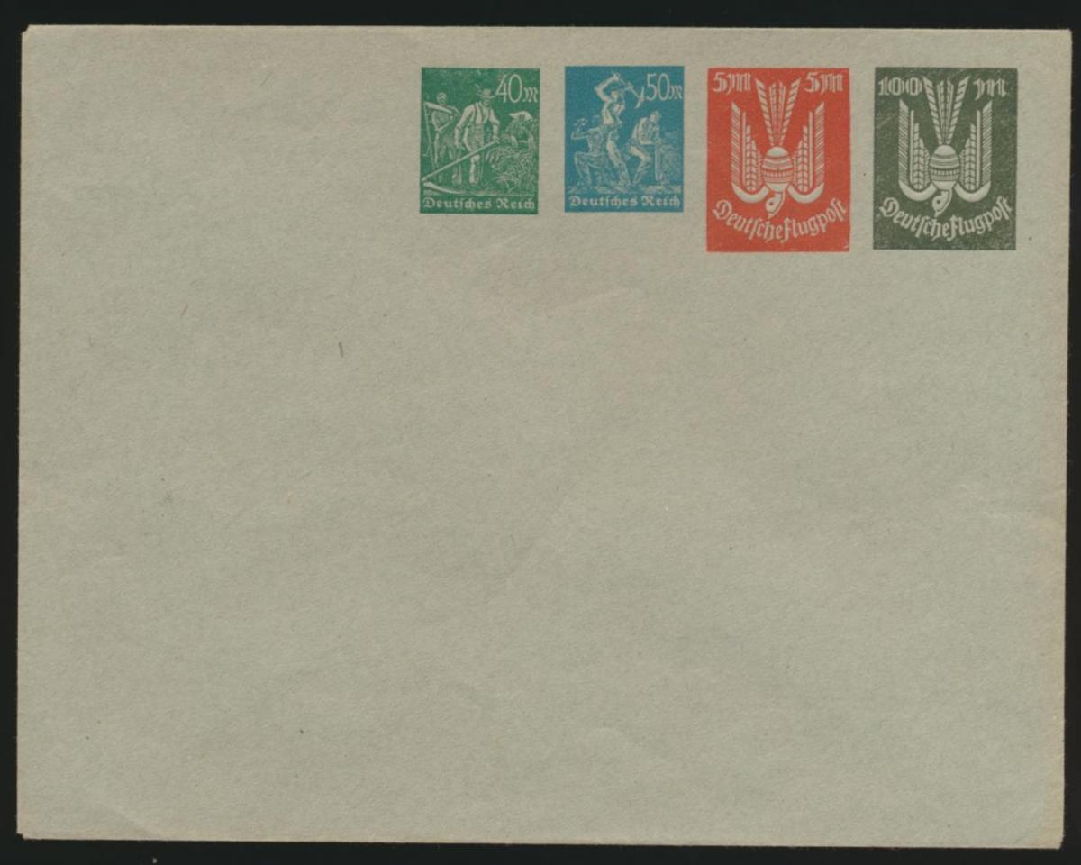 Deutsches Reich Privatganzsache Umschlag PU 96 A 2 Arbeiter + Holztaube