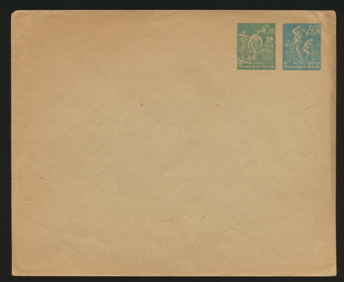 Deutsches Reich Privatganzsache Umschlag PU 90 A 1 Arbeiter