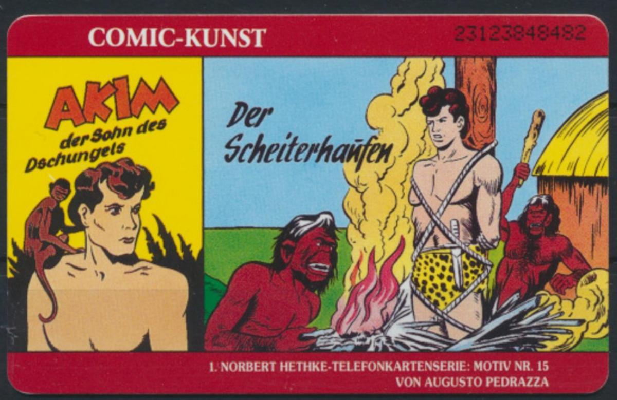 Telefonkarte Telekom Akim Comic Kunst Norbert Hethke