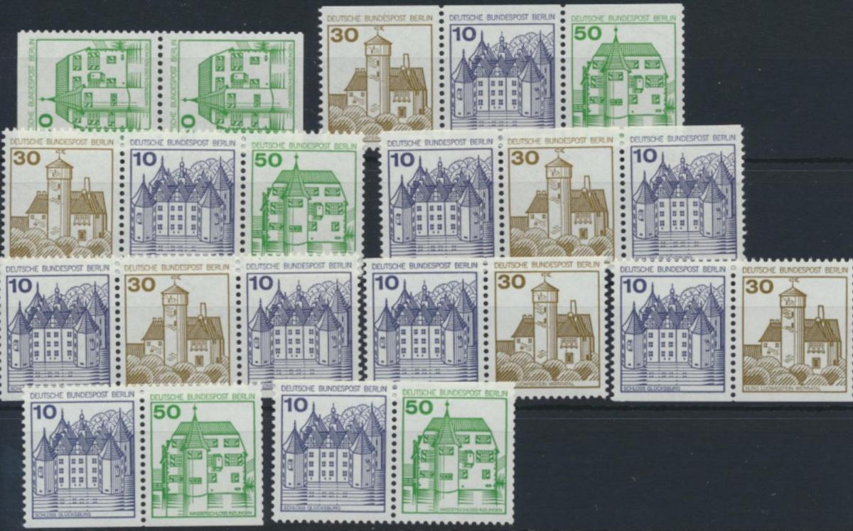 Berlin Zusammendrucke aus MH 11 W67-W74 615 C/D ** 1980