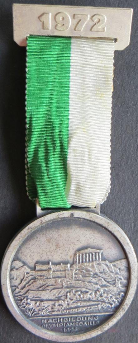 Medaille II. Internationaler Volkslauf Sankt Augustin im Olympiajahr 1972