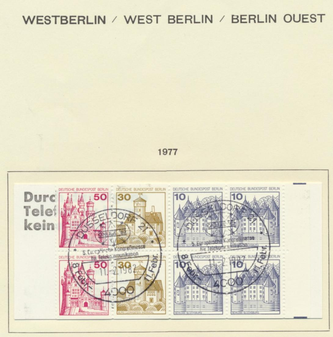 Berlin Markenheftchen MH 10 Burgen und Schlösser 1977 SST Kongreßmesse Düsseldor