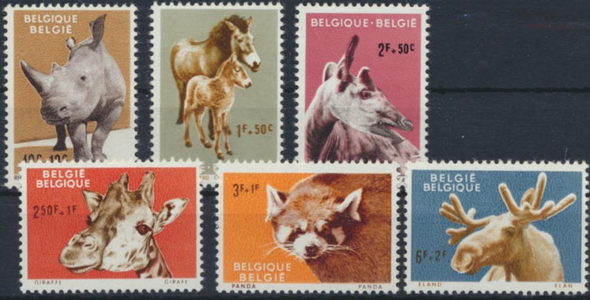 Belgien 1242-1247 Tiere aus dem Zoo von Antwerpen ** 1961
