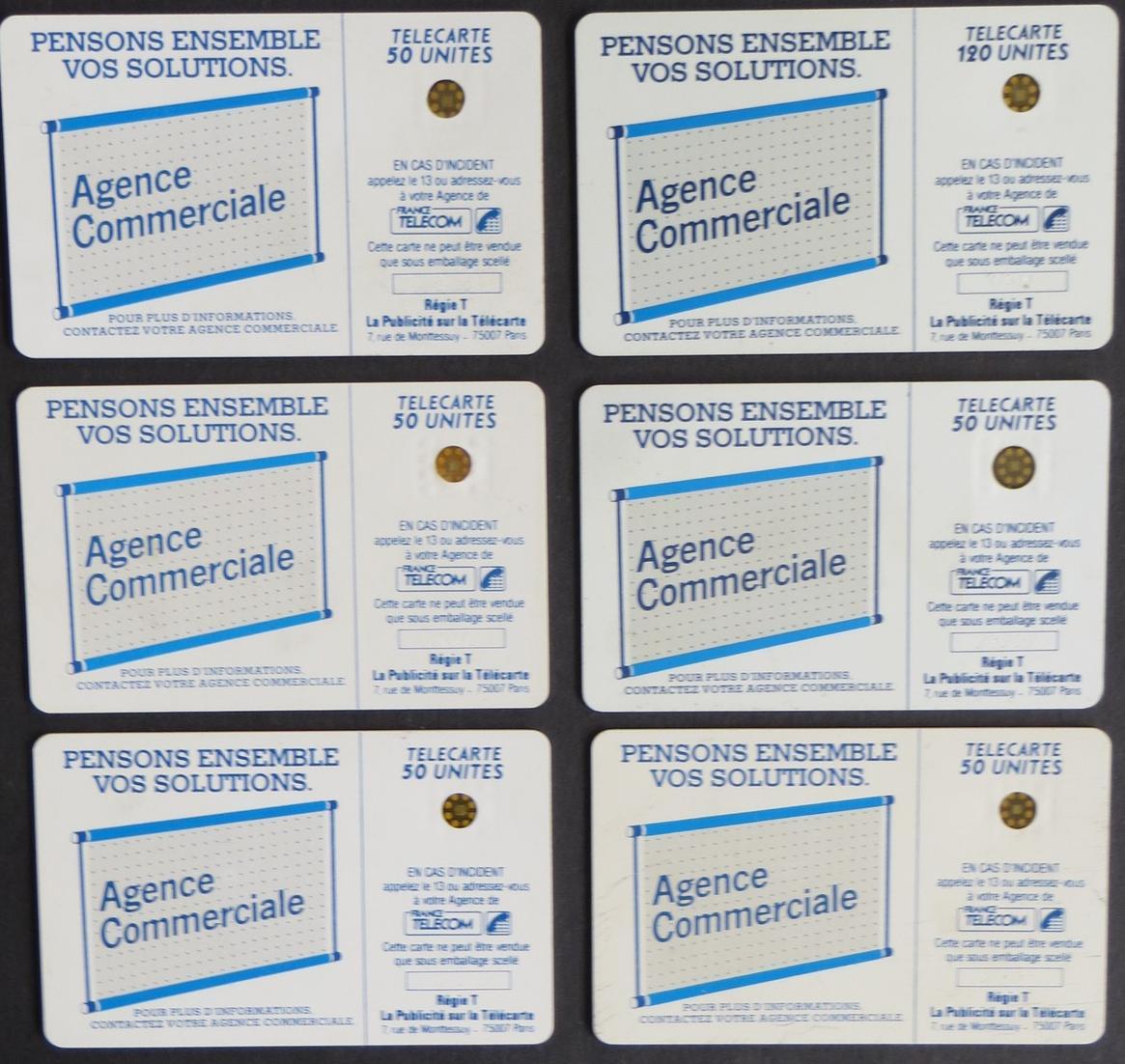 Sammlung 6 Telefonkarten France Telecom Telecarte 50
