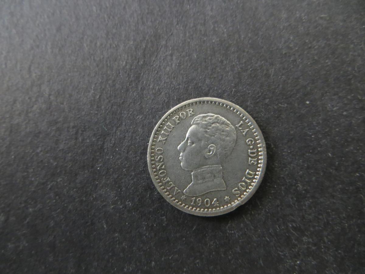 Münze Spanien Alfonso XIII 50 Centimos 1904 Silber vzgl. Schön: 7