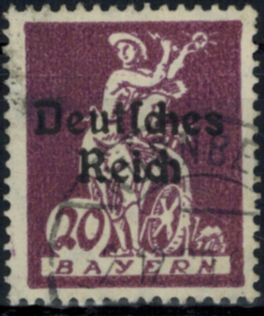 Deutsches Reich 122 Abschiedsserie 20 Pf Plattenfehler III 1920 gestempelt