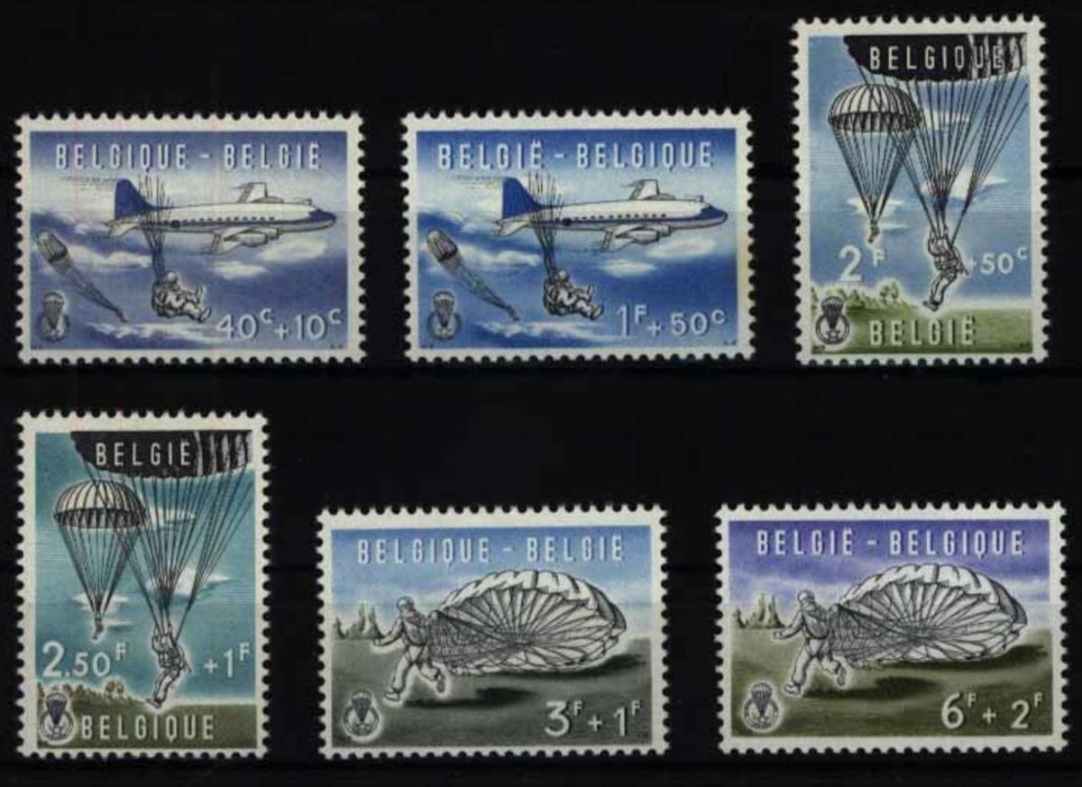 Belgien 1190-1195 Kultur Fallschirmspringen 1960 komplett postfrisch ** MNH