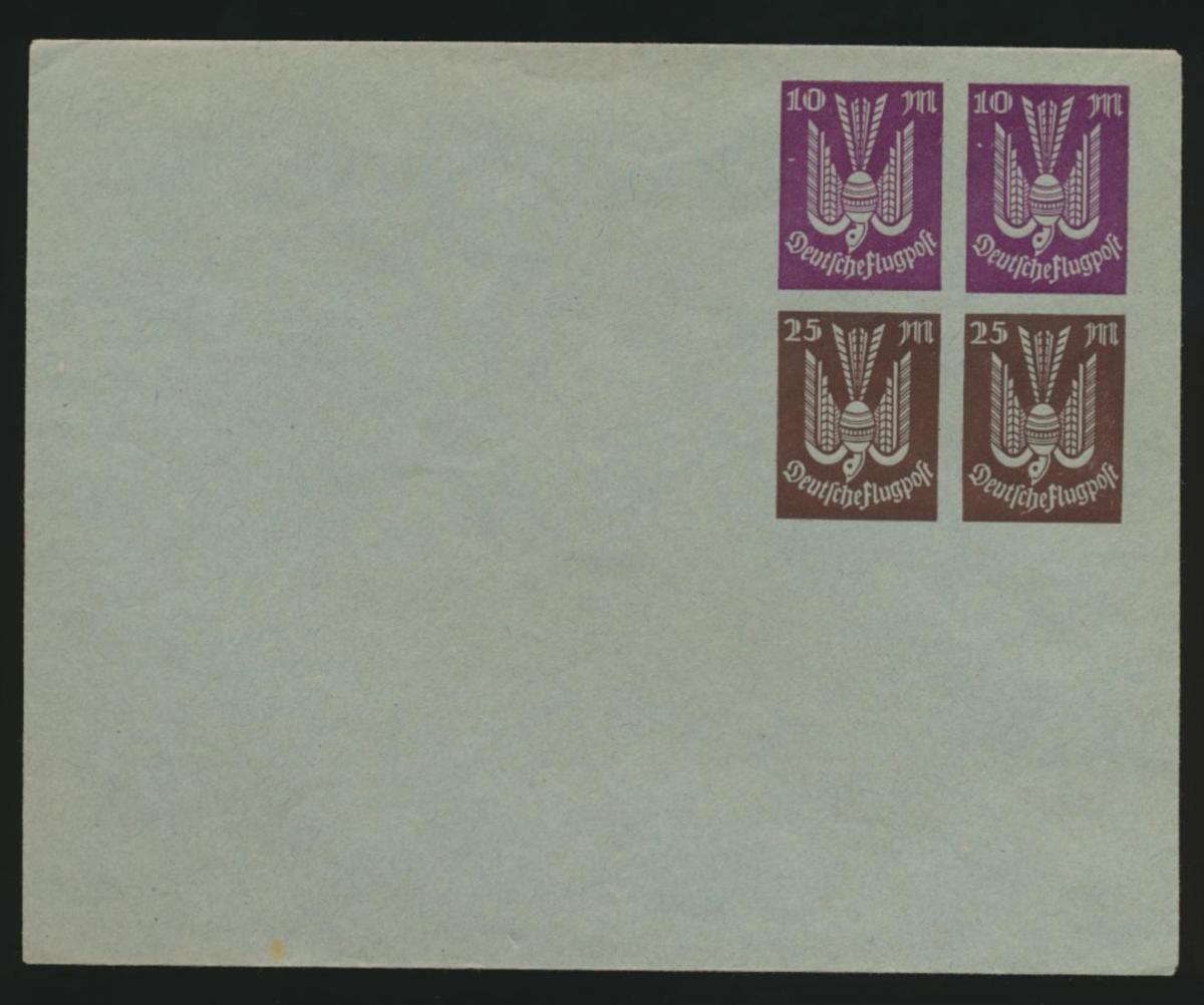 Deutsches Reich Privatganzsache Umschlag PU 94 A2 02 Holztaube