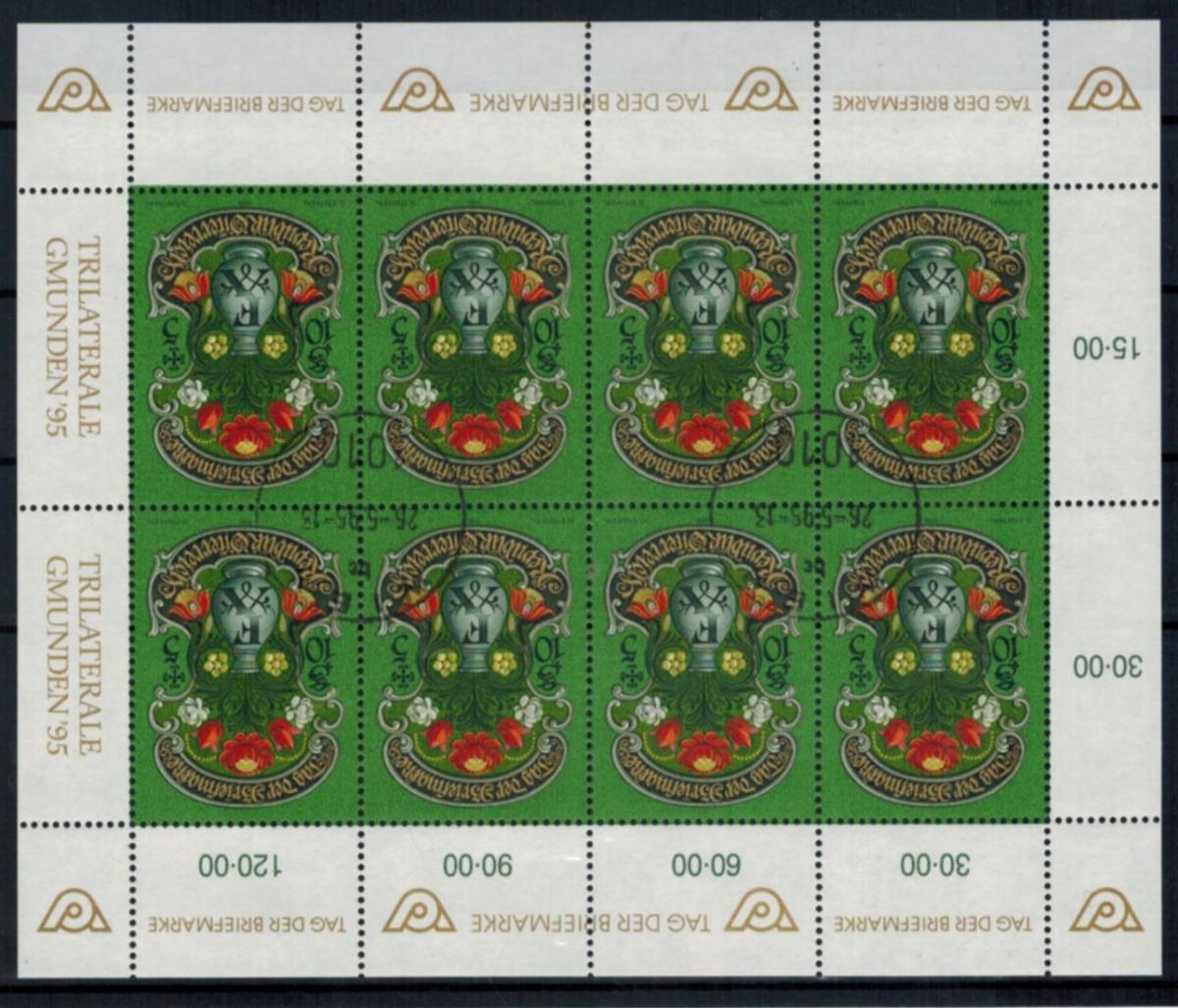 Österreich Kleinbogen 2158 Tag der Briefmarke Philatelie gestempelt 1995