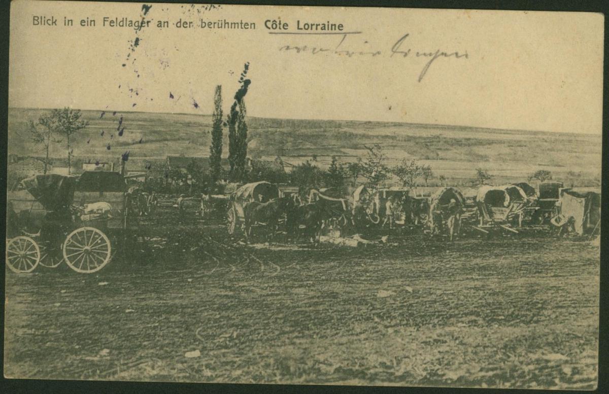 Ansichtskarte Côte Lorraine bei St. Hilaire Lothringen Feldpost I. WK Frankreich