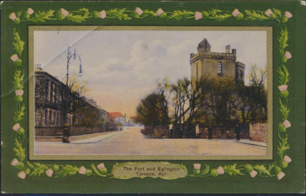 Ansichtskarte Schottland 103 A The Fort and Egligton Terrace Ayr nach Alexandra