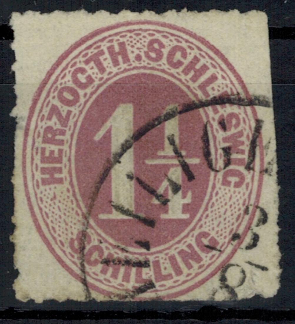 Schleswig Holstein 14 1 1/4 S. mit Stempel Heiligenhafen