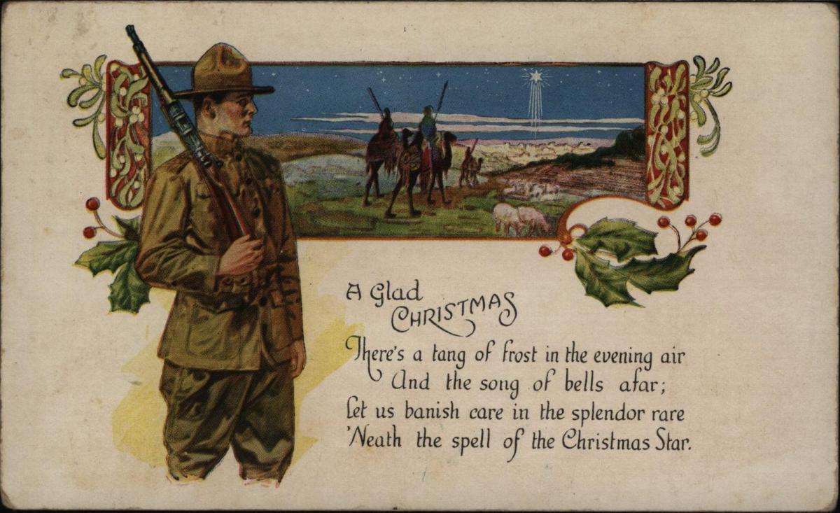 Ansichtskarte USA Weihnachten 1919 Peru New York nach N.Y.
