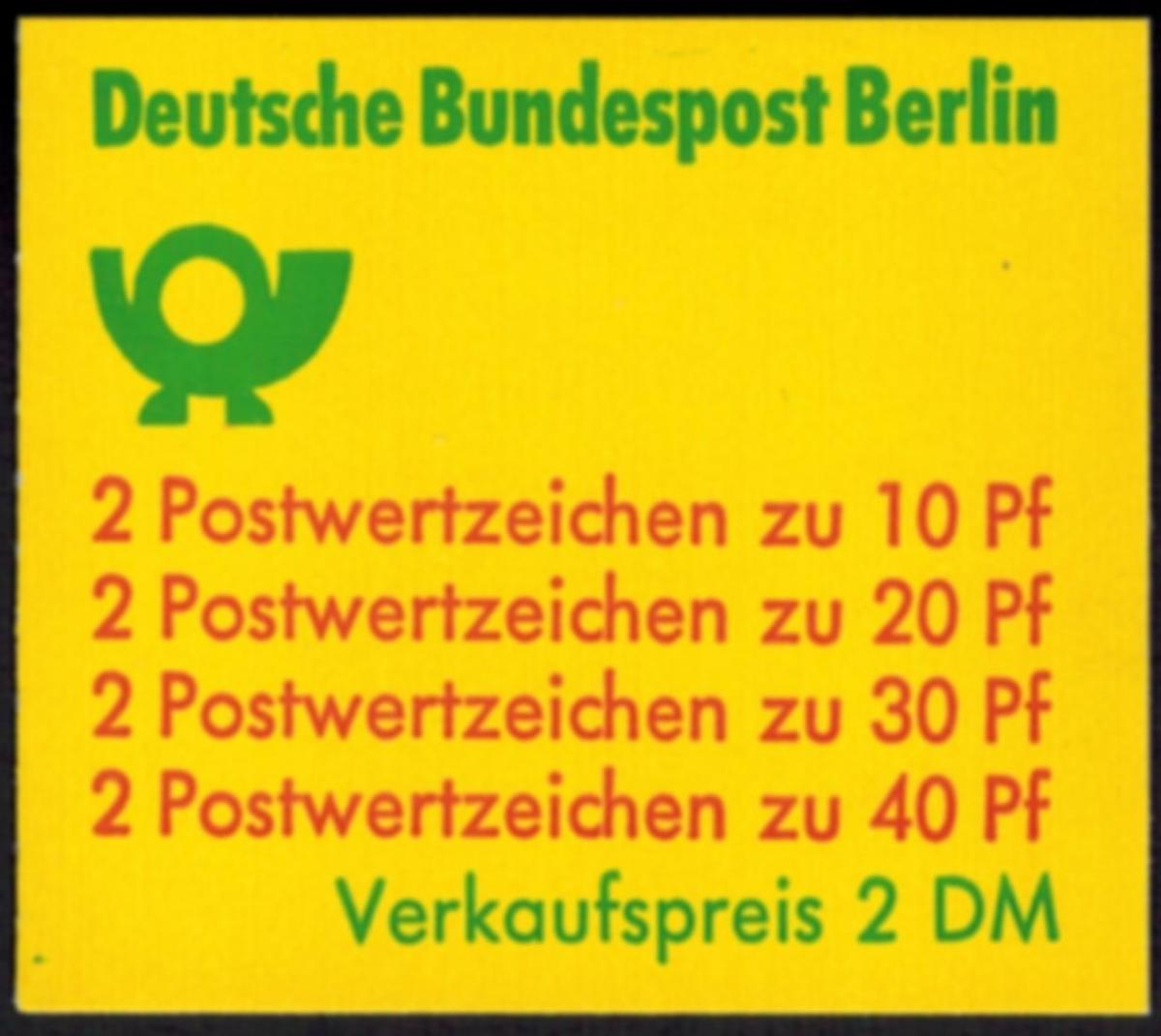 Berlin Markenheftchen 9 c I oZ Unfallverhütung 1974 tadellos postfrisch