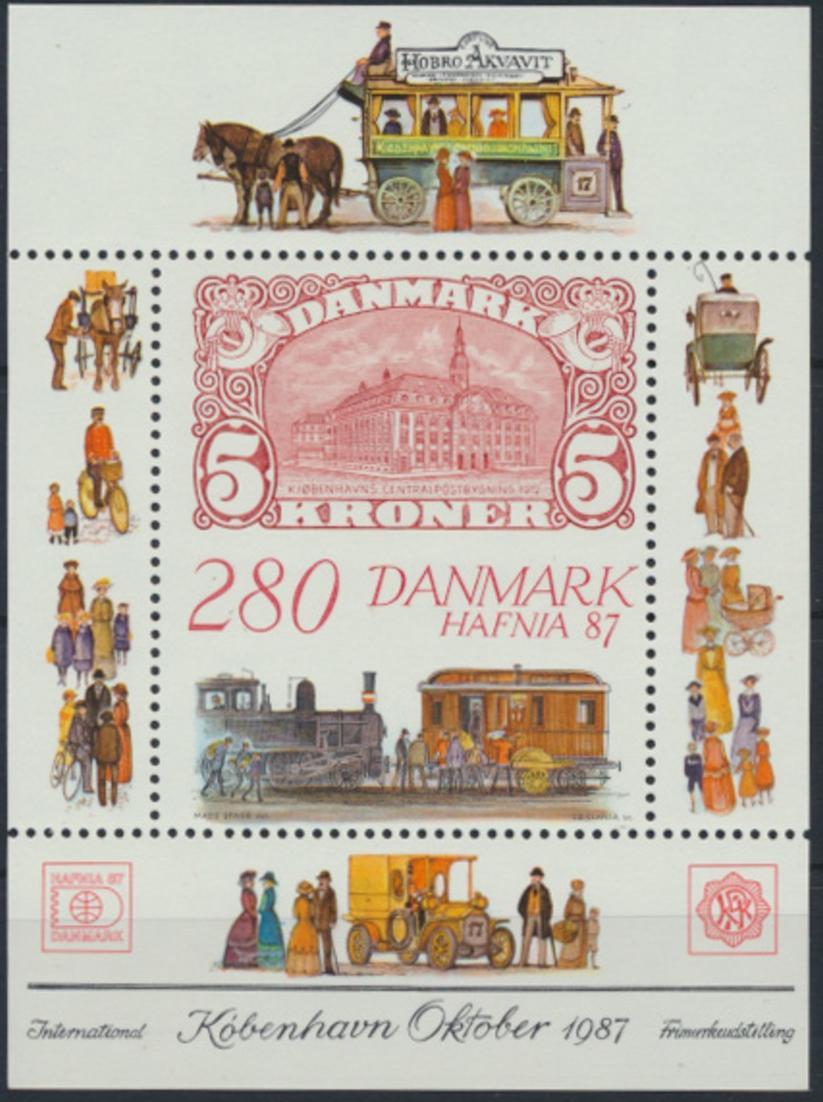 Dänemark Block 7 ** Internationale Briefmarkenausstellung HAFINA 1987