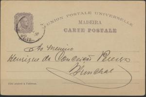 Madeira Ganzsache P 16 20 R. Vasco da Gama 1898 mit Ansicht ungebraucht