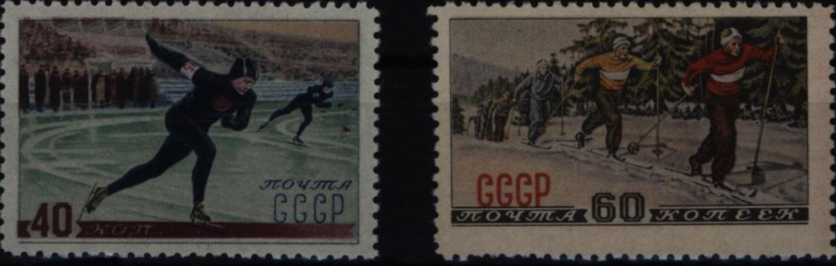 Sowjetunion 1619-1620 Wintersport 1952 komplett postfrisch ** MNH