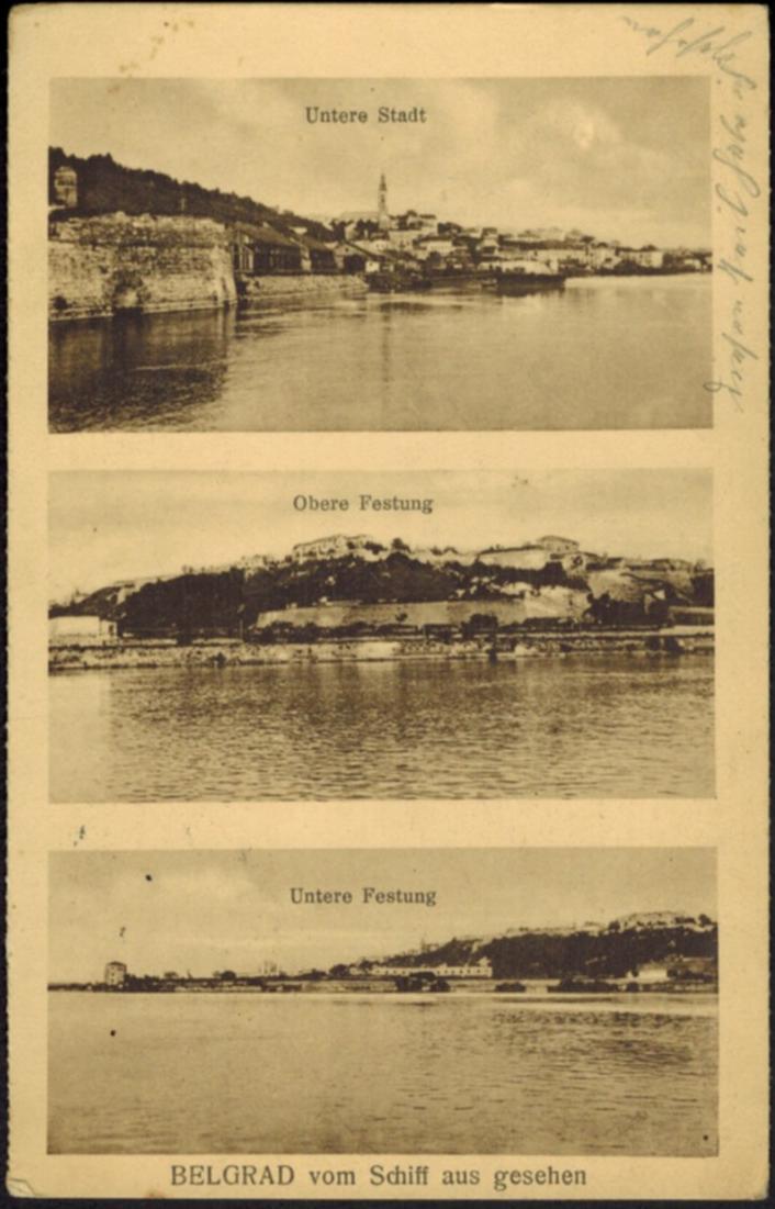 Ansichtskarte Belgrad Serbien Deutsche Feldpost I. WK gelaufen 1918