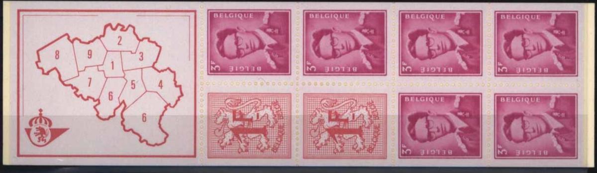 Belgien MH 18 Markenheftchen 1969 Löwe und König Baudouin postfrisch ** MNH