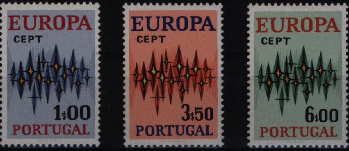 Portugal 1166-1168 Europa CEPT 1972 komplett postfrisch ** MNH
