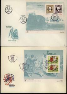 Portugal Madeira Block 1 bis 3 Europa CEPT 1980-1982 auf FDC Ersttag