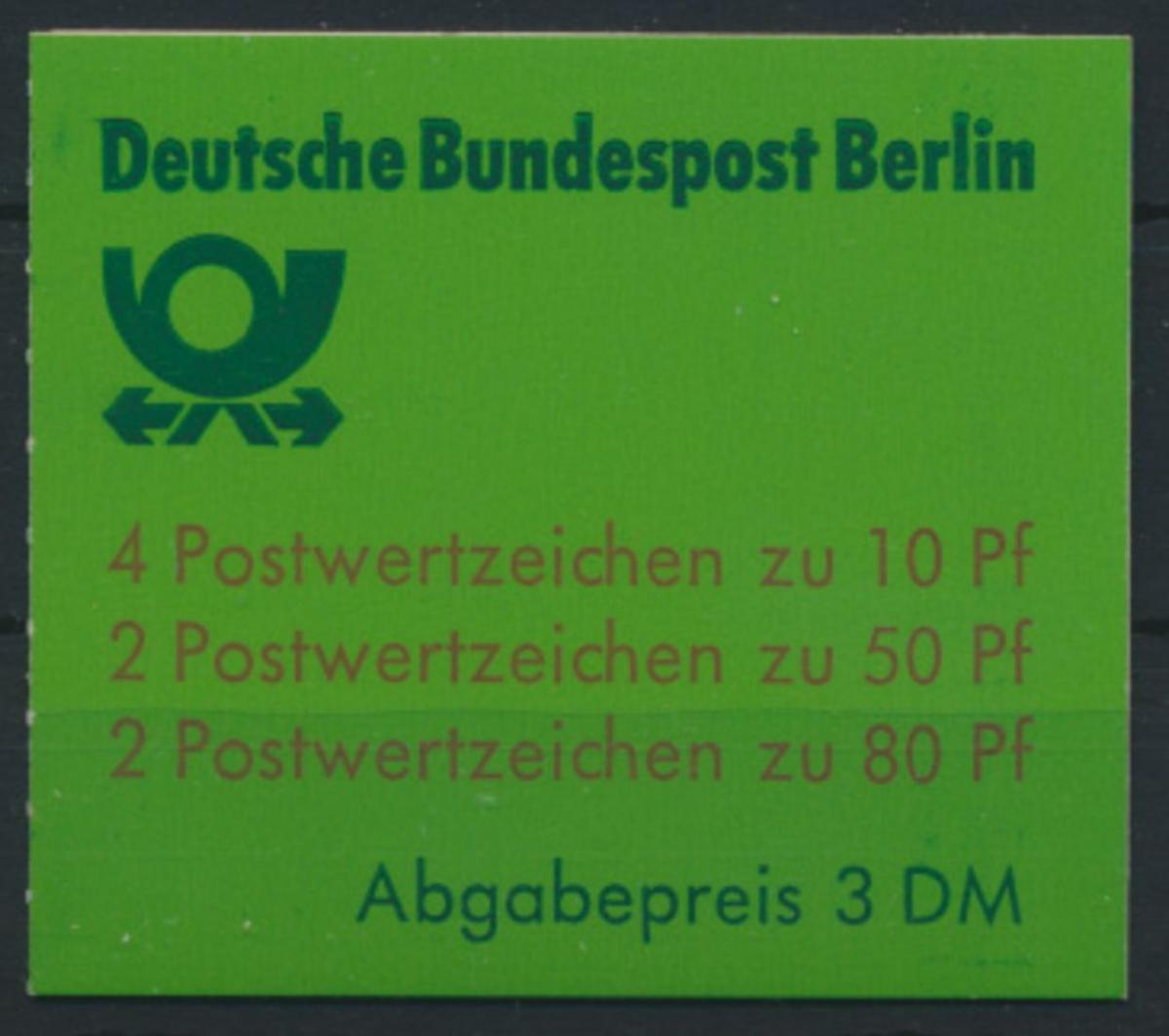 Berlin Markenheftchen 13 c oZ Burgen und Schlösser 1982 Luxus sauber gestempelt