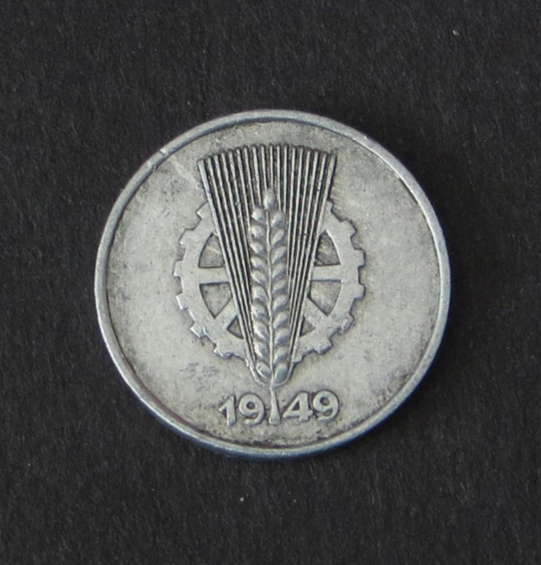 DDR Kursmünze 1 Pfennig 1949 E Zahnrad und Ähre sehr schön Jäger 1501 1