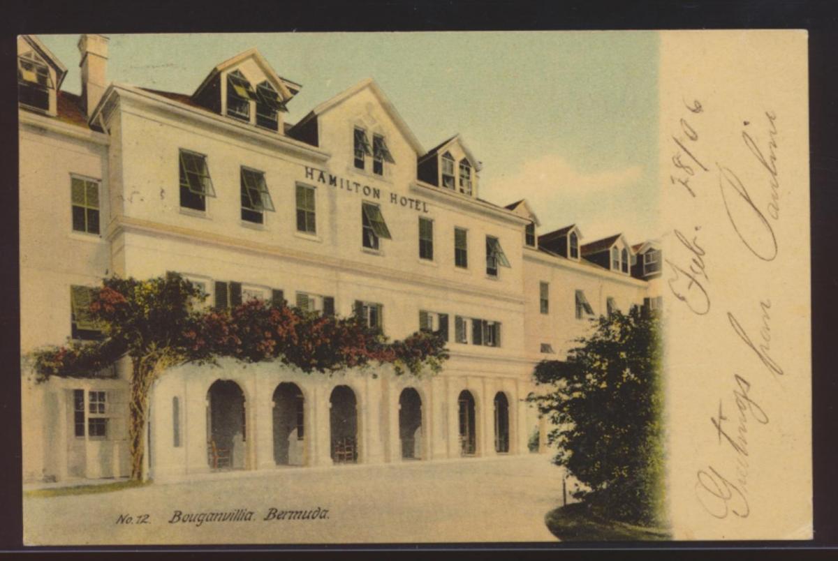 Bermuda Foto Ansichtskarte Bouganvilla Hamilton Hotel New York USA