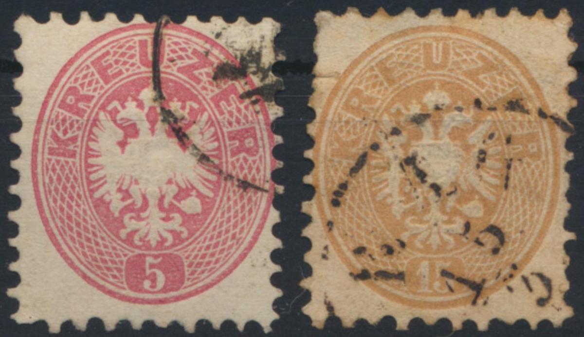 Österreich 26+28 Doppeladler gestempelt