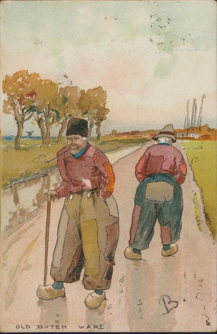Ansichtskarte Niederlande Kunst Old Dutch Ware Bauern Tracht Deventer na. Kampen