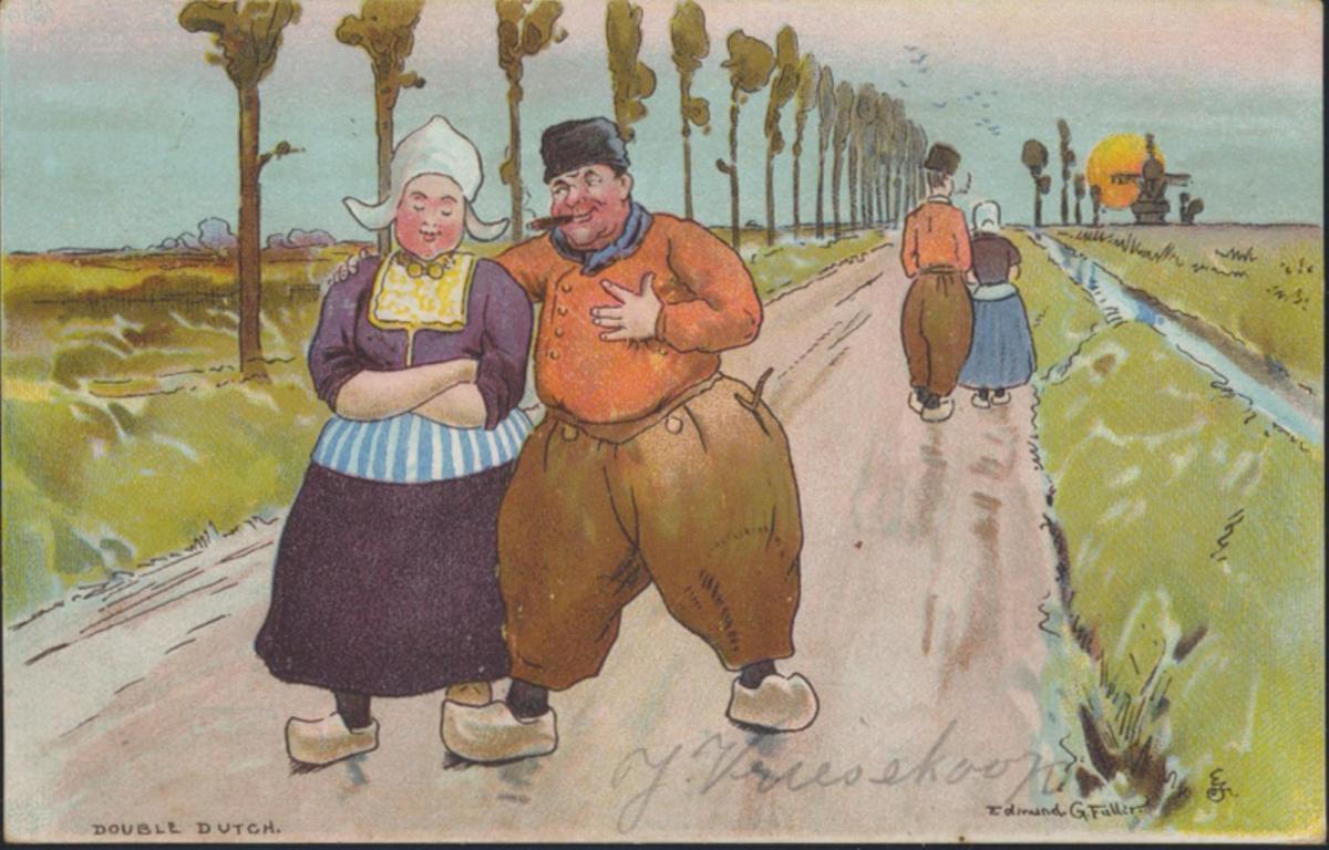 Ansichtskarte Niederlande Kunst Double Dutch Bauern nach Haarlem