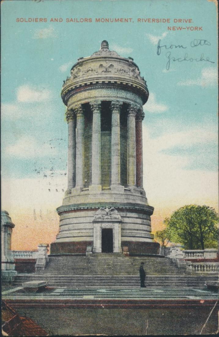Ansichtskarte USA Soldiers and Sailors Monument Riverside Drive New York