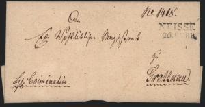 Preussen Vorphila Brief L2 Neisse Nysa Schlesien möglich ab 1817
