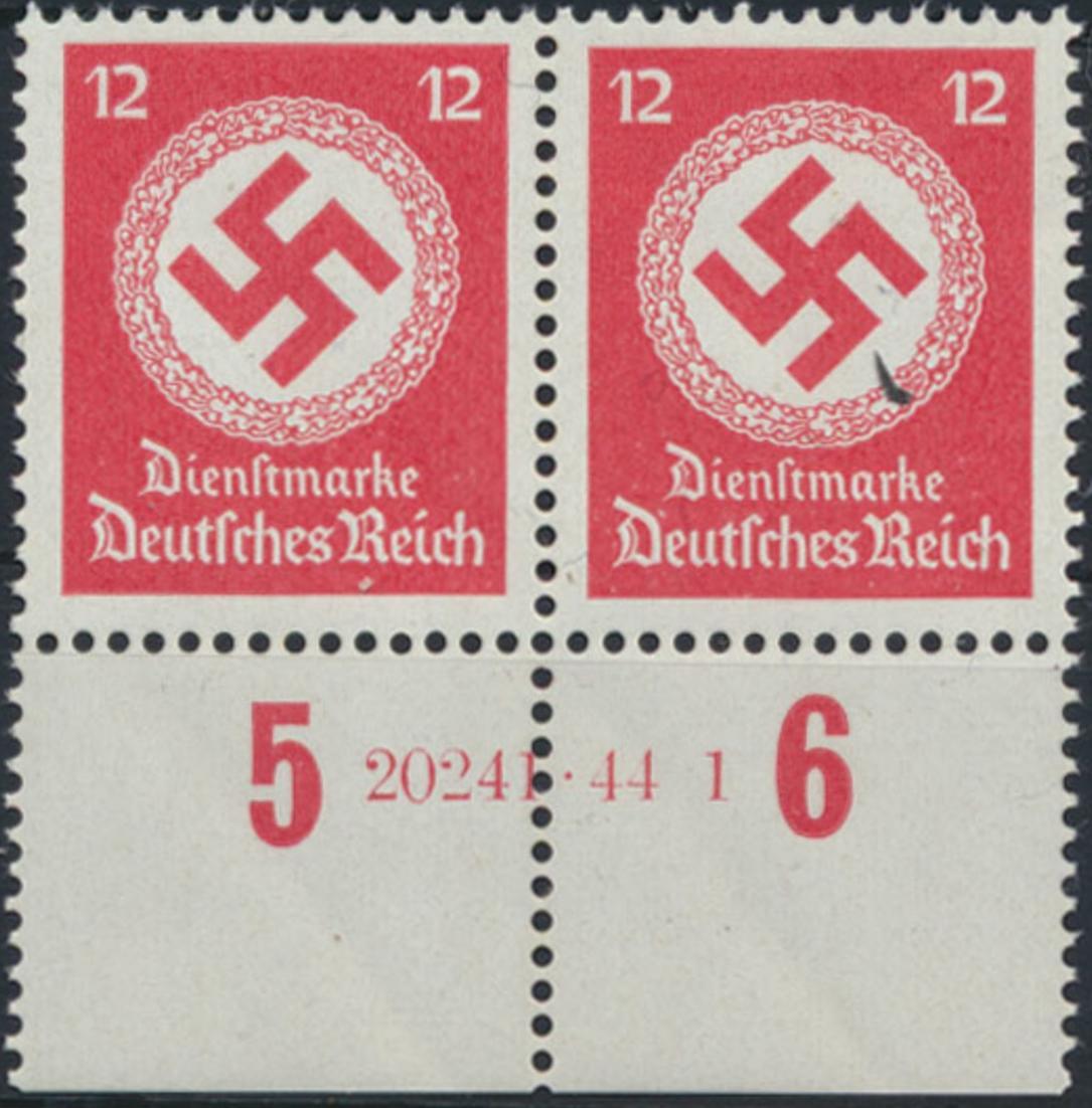 Deutsches Reich Dienst 172 b HAN 20241.44 1 Paar Unterrand 1944 postfrisch **