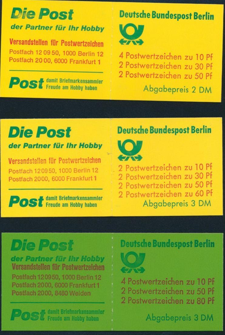 Markenheftchen Berlin MHB 11a 12a 13a Burgen und Schlösser postfrisch Kat. 41,00