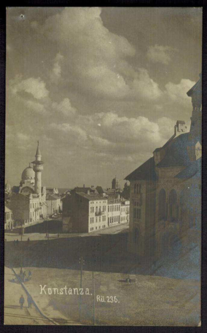 Ansichtskarte Constanța Rumänien Moschee Deutsche Feldpost I. WK gelaufen 1918