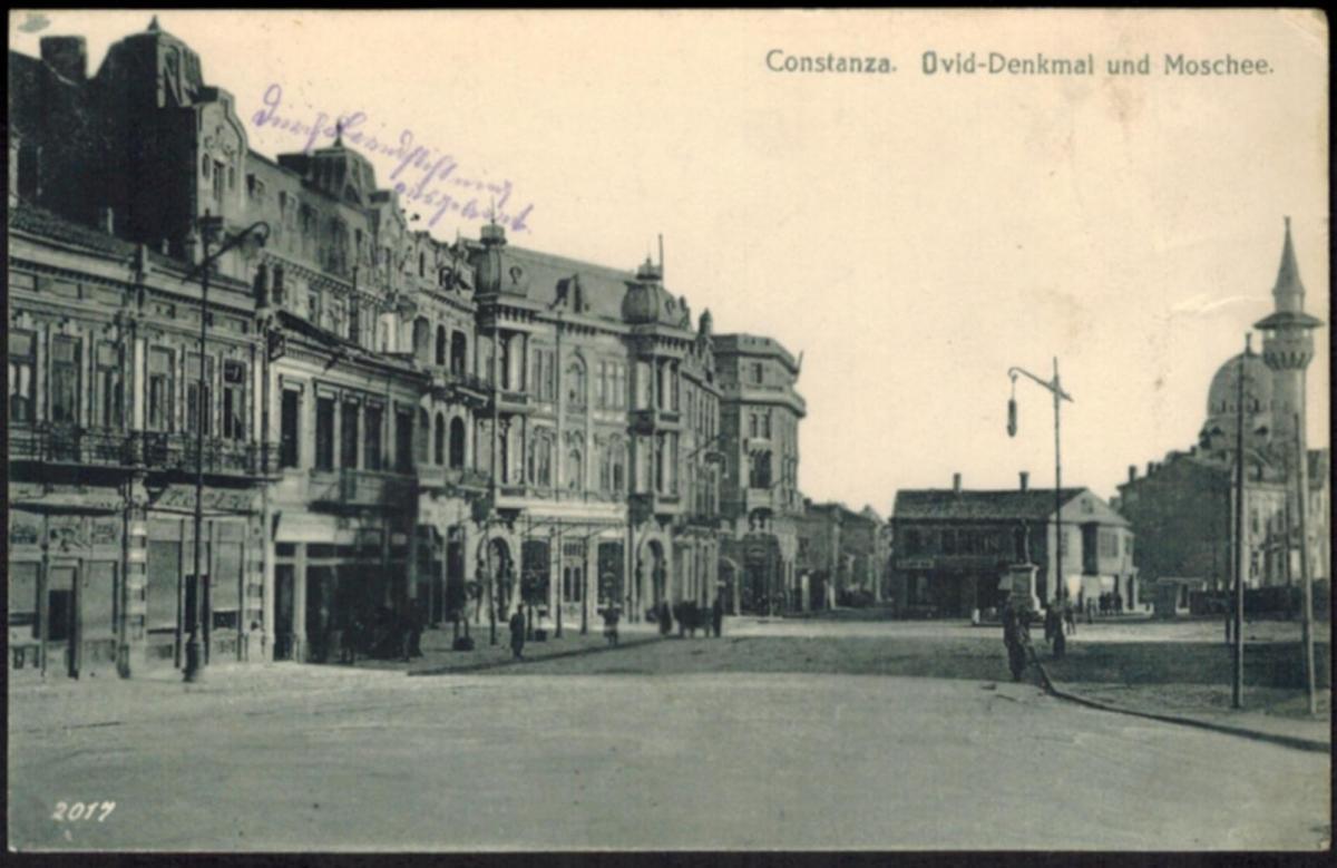 Ansichtskarte Constanța Rumänien Moschee Deutsche Feldpost I. WK gelaufen 1917
