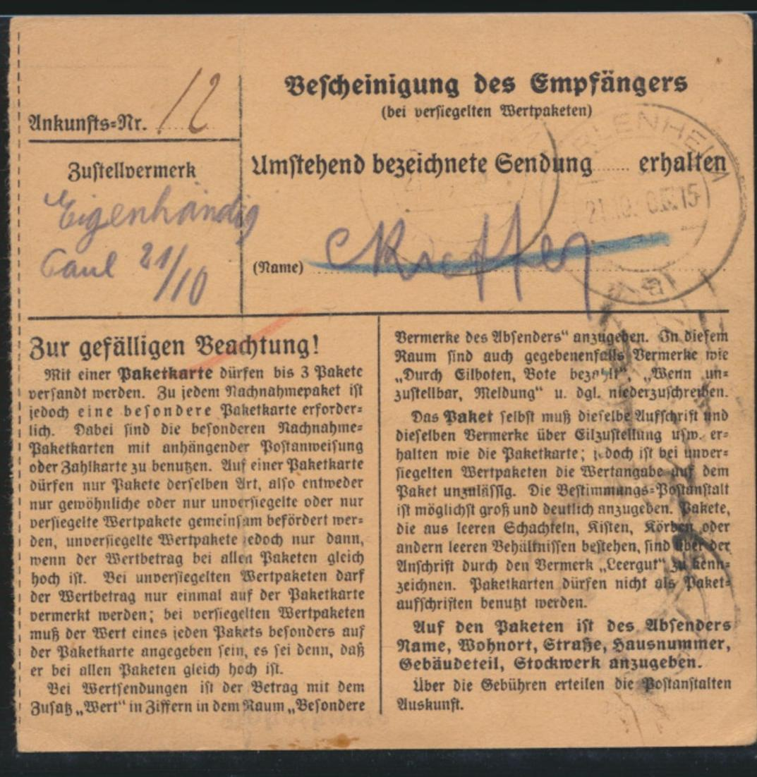 Besetzung 2 Weltkrieg Lothringen MIF 3 + 12 Hindenburg Metz Dahlenheim France 1