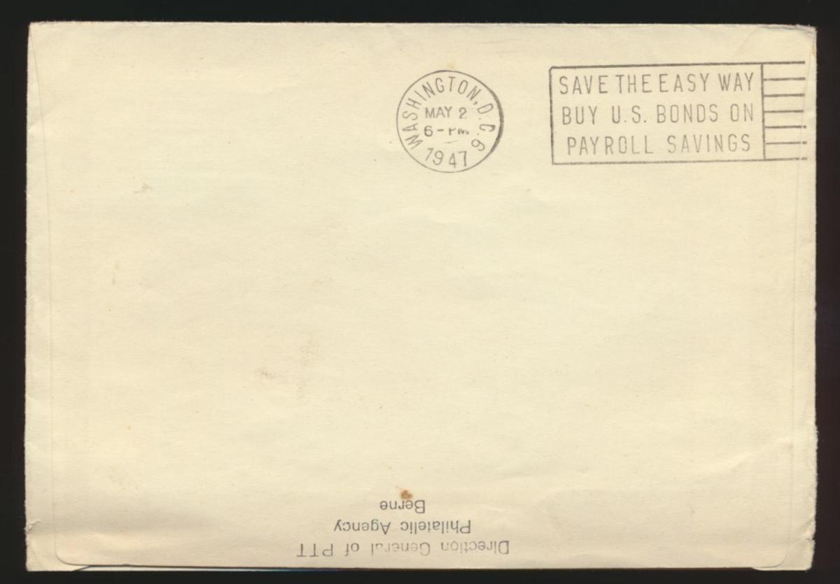 Flugpost airmail Schweiz Genf 479 Centralia Washington USA FDC Kat.-Wert 60,00 1