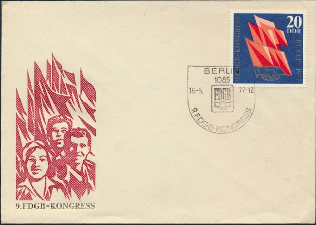 DDR Brief 2219 SST 9. FDGB Kongress Eindruck Ostalgie Politik Gewerkschaft 0