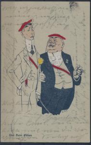 Ansichtskarte Studentika Der Herr Filius 1904 von Berlin nach Spandau