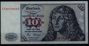 Bundesrepublik Geldschein Banknote 286 a CS 10 Deutsche Mark 2.1.1980
