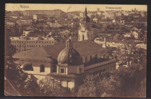Foto Ansichtskarte Wilna Vilnius Totalansicht Feldpost I. Welkieg nach Berlin